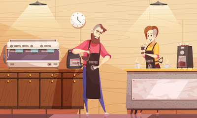 Coffee House Vector Illustration