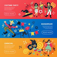 Carnival Masquerade Horizontal Banners