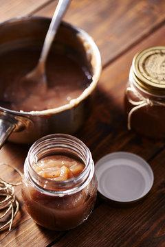 Homemade creme de marrons