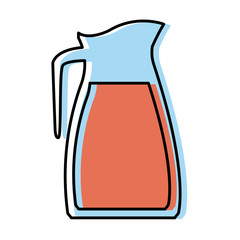 Glass jar kitche utensil icon vector illustration graphic design