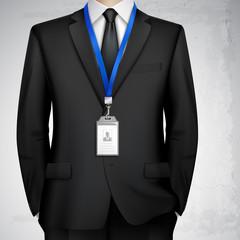 Businessman ID Card Badge Realistic