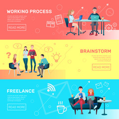Freelance Horizontal Banners Set