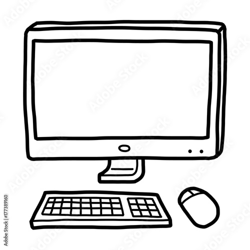 Quot Modern Computer Cartoon Vector And Illustration Black