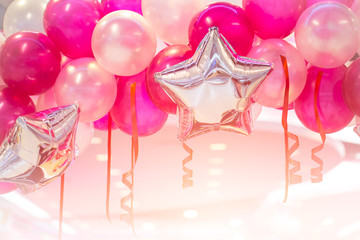 pink balloon party happy new year celebration festival background
