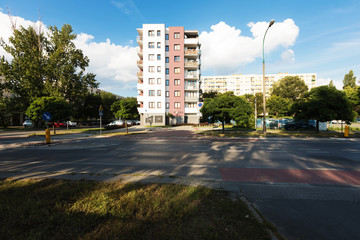 Residential area in Warsaw