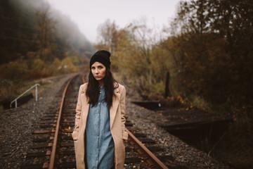 Girl on Train Tracks