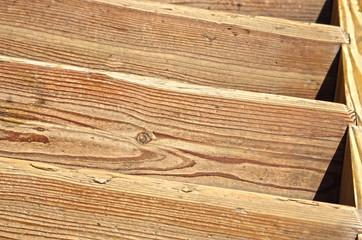 détail d'escalier en bois rénové