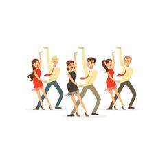 Dancers of latin american dance