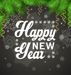 new year party sign