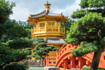 The Golden Pavilion in Nan Lian Garden, Hong Kong