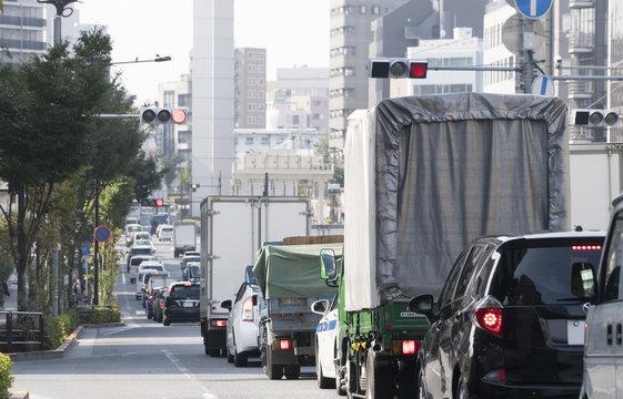 渋滞イメージ 朝 ラッシュアワー 東京