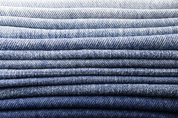 background pile of denim fabric texture