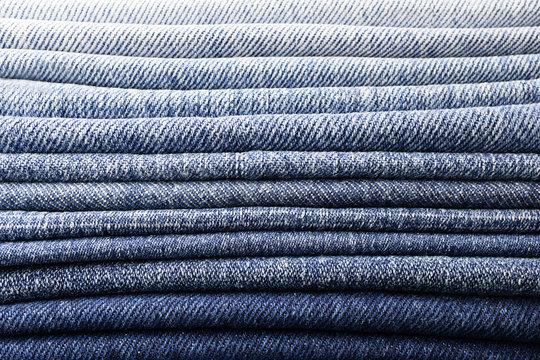 background pile of denim fabric texture