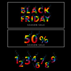 Pre-black Friday Sale banner with abstract elements.