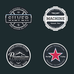 Vector logos metal style
