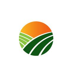 Logo Farming Land Orange