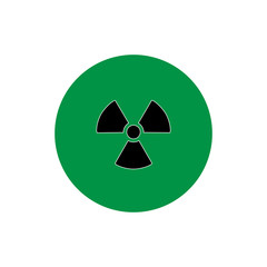 nuclear radiation round icon vector