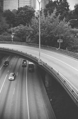 curved sections of highway