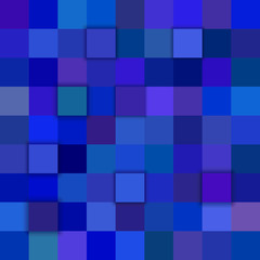 Blue abstract 3d cube mosaic background from squares