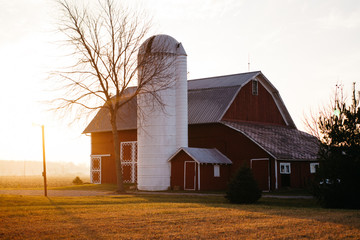 Barn and Silo in Midwest