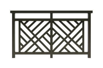 Design brown metal railing render