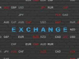 Banking concept: Exchange on wall background