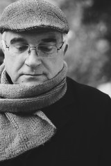 Portrait of an elderly man outdoors