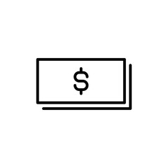 Premium dollar icon or logo in line style.