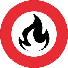 Feuer Verbot Schild