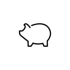Modern bank line icon.