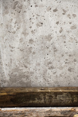 Wood Beams & Splattered Concrete Abstract