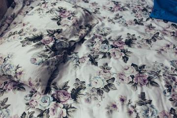 unkempt bed