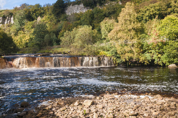 Wainwath falls in the Yorkshire Dales National Park, England