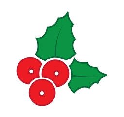 Vector, Holly berry Icon