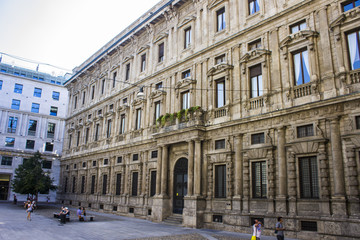The Palazzo Marino, a 16th-century palace located in Piazza della Scala, in the centre of Milan, Italy. It has been Milan's city hall since 9 September 1861