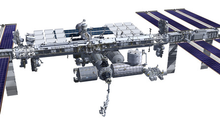 Zenith side of the International Space Station