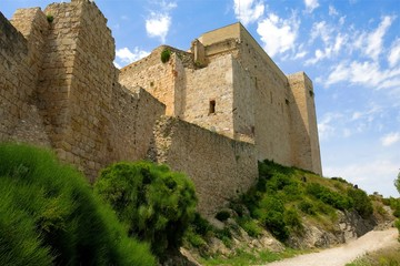 Miravet Castle, Catalonia, Spain. Medieval castle once occupied by Knights Templar.