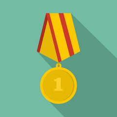 Medal icon vector flat