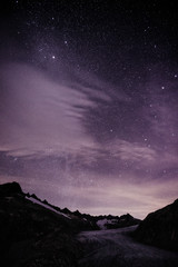 Nightscape with Furka glacier