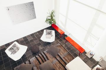 Stylish Living Room Overhead