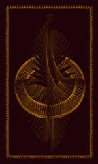 Tarot cards - back design.  Birth of the Phoenix