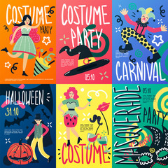 Costume Party Placards Set