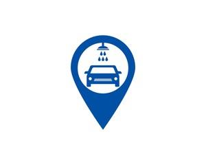 Car wash point logo design