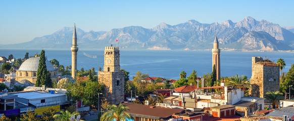 Panoramic view of Antalya Old Town, Turkey