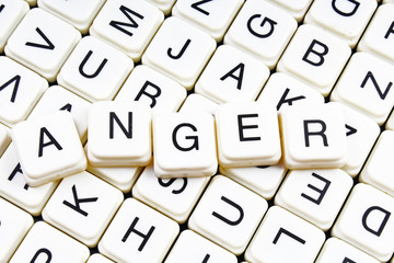 Anger text word letters as background cover photo.