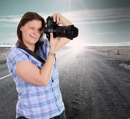photograher on the road