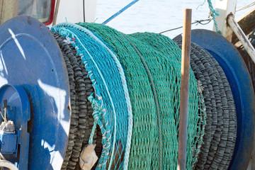 Fishing nets in Hanstholm Denmark