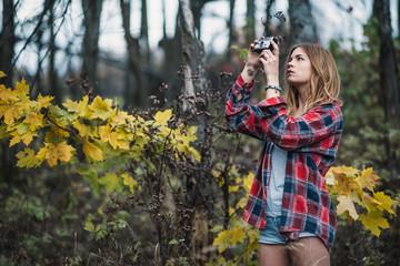 hippie camera girl