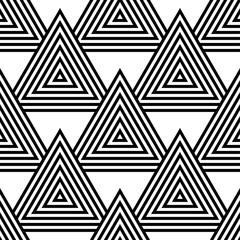 White and black geometric ornament. Seamless pattern