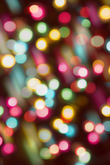 colorful party lights in blur background